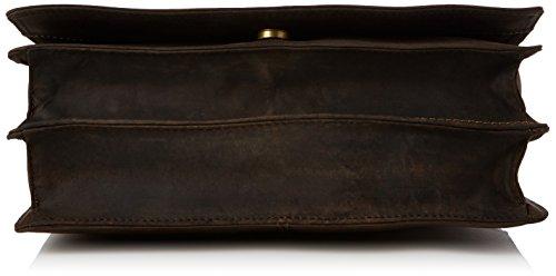 Umhängetasche im Jägerstil/Jägertasche von Visconti (16025) - GRÖßE: B: 30 H: 25 T: 10 cm Öl Braun