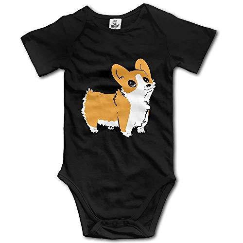 (xcvgcxcvasda Strampelanzug Overall für Kinder Toddler Bodysuit Cute Corgi Infant Onesie Jumpsuit Cotton Comfortable Cute Pattern)