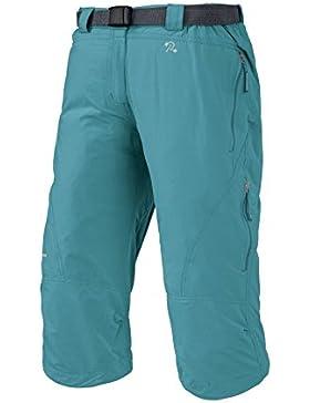 TRANGO Tervos - Pantalón Pirata para Mujer, Color Azul, Talla M