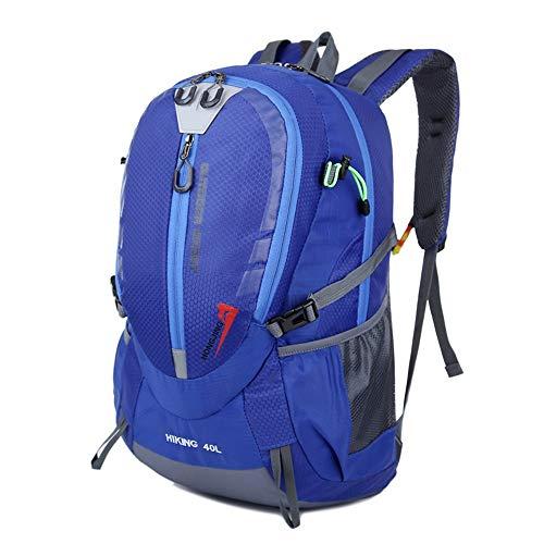Reiserucksack, langlebig, leicht, 40 l, wasserabweisend, für Reisen, Wandern, Tagesrucksack, ultra-leicht, tragbar, Unisex, Outdoor-Sport für Männer und Frauen, Polyester, marineblau, 40 l