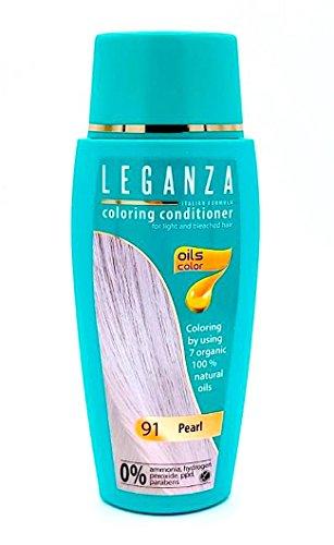 Leganza Färbender Conditioner Farbe 91 Perla Mit 7 natürlichen Ölen Ammoniak und Paraben frei