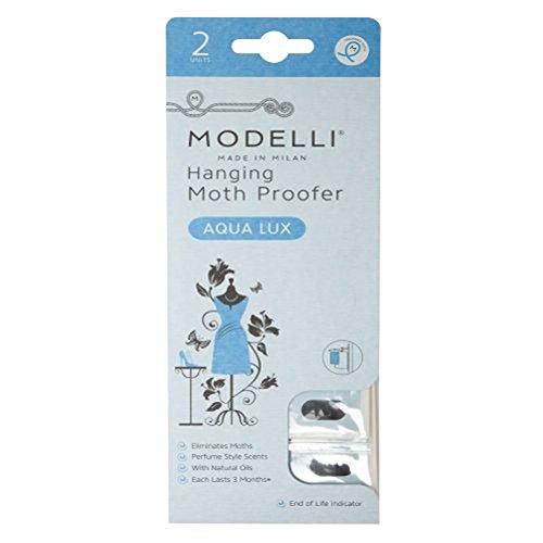 modelli Moth Proof parfumée à suspendre sachets, Aqua Lux, Lot de 2