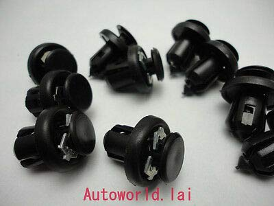 FidgetGear 25 x Passform für Honda Acura 91505-S9A-003 Stoßstangen-Clips, Nylon, 20 x 13 x 10 mm (Honda Civic 2005-stoßstange)