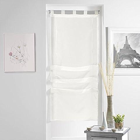 Rideaux 45x180 - Douceur d'Intérieur Lissea Store Forme Droite Voile