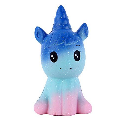 horn Pferd Langsam Steigend Squeeze Spielzeug Antistress Squishies Spielzeug Kawaii für Kinder Erwachsene (Galaxy, 7*6*12,5cm, 1 Stück) ()