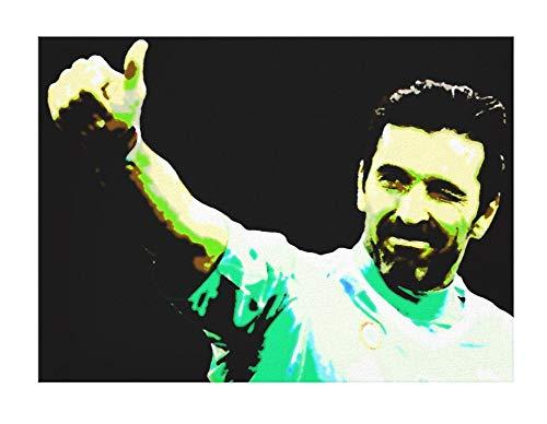 BUFFON–Gianluigi Buffon–Juventus–cuadro moderno pintado a mano–Pop Art Effect (tamaño 70x 45cm)