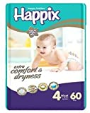 #4: Happix Day & Night Use Diaper, Large Pack of 60 Diapers