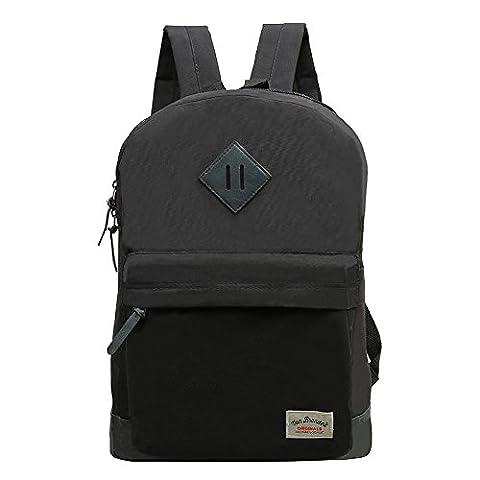 Vivahouse vielseitige modische Schultasche, stylischer Rucksack für Teenager, Schüler und Studenten in Casual Style aus robustem PU-Leder für Reisen, unzerstörbares Design für