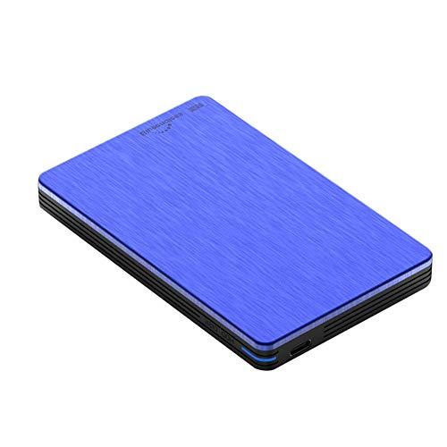 YANWE Tragbare Externe Festplatte,USB3.0 Datenspeicherung Und Sicherung Geeignet Für PC MAC H6(2.5 Inch /160GB~2TB),Blue,160GB