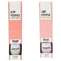 AirRoma Combo of Lavender Fresh Fragrance Air Freshener Spray 200 ml & Jasmine Flower Fragrance Air Freshener Spray 200 ml