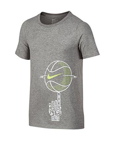 Nike CTN Spinning Ball YTH - Kurzärmeln T-Shirt Grau - XS - Jungen (Nike T-shirt Jungen Größe 8)