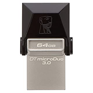 Kingston DTDUO3/64GB - Memoria USB (64 GB, USB 3.0/Micro-USB, 5 V, Flash), negro (B00LIXJ54K) | Amazon price tracker / tracking, Amazon price history charts, Amazon price watches, Amazon price drop alerts