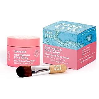 Sand & Sky Australian Pink Clay Porefining Face Mask with BONUS Face Mask Brush