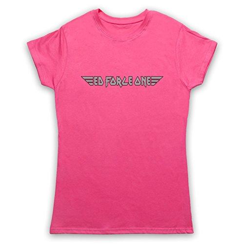 Inspiriert durch Iron Maiden Ed Force One Inoffiziell Damen T-Shirt Rosa