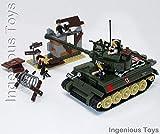 Ingenious Toys Militär Kampfpanzer with 4 Minifiguren & Versteck BAU Baukasten A711