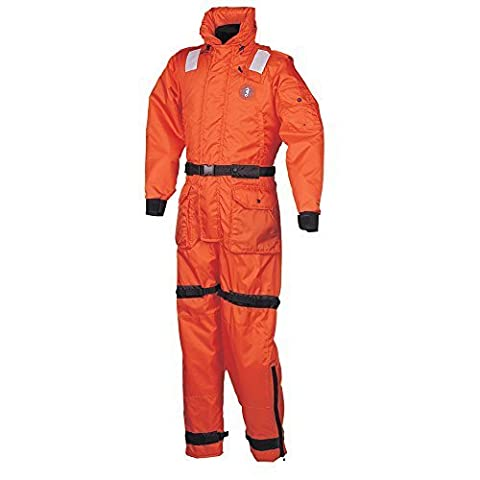 Mustang Deluxe Anti-Exposure Coverall and Worksuit - Large, Orange by