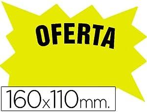 etiquetas de cartulina: CARTEL CARTULINA ETIQUETAS MARCAPRECIOS AMARILLO FLUORESCENTE 160X110 MM -BOLSA ...