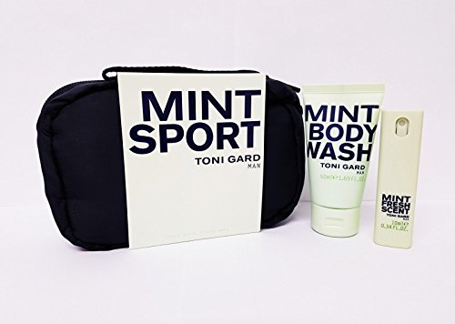 TONI GARD MAN MINT SPORT SET 10 ML EDT SPRAY + 50 ML BODY WASH (Mint Body Spray)