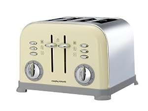 grille pain 4 tranches accents morphy richards couleur cr me 44038 cuisine maison. Black Bedroom Furniture Sets. Home Design Ideas