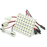 Nuevo 48 3528 LED SMD Panel Bombilla Lámpara Adapatador de Luz Interior Coche