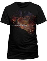 Gears Of War Flag And Justice Official Unisex T-Shirt (Black)