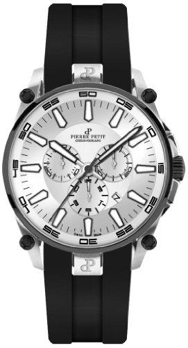 Pierre Petit - P-817B - Montre Homme - Quartz - Chronographe - Chronomètre - Bracelet Silicone Noir