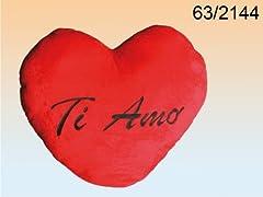 Idea Regalo - San Valentino CUORE PELUCHE TI AMO XXL GIGANTE ROSSO CIRCA 60 CMCUORE PELUCHE TI AMO XXL GIGANTE ROSSO CIRCA 60 CM