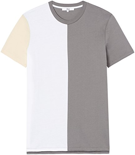 FIND Herren T-Shirt mit Colour-Blocking Grau (Charcoal Grey)