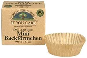 If You Care Backförmchen Mini - für Pralinen und Frischkäse 100% ungebleicht; FSC Papier, 2er Pack (2 x 90 Stück)