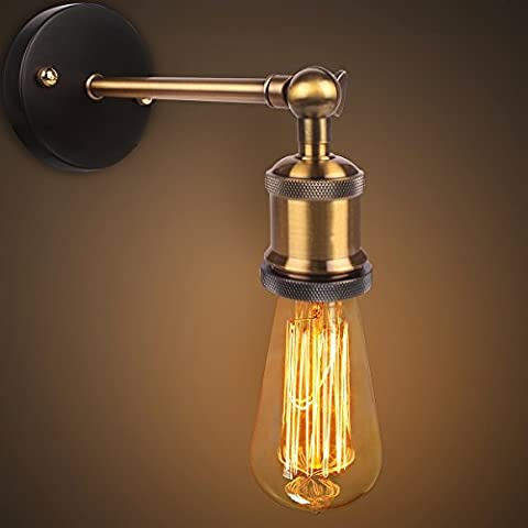 Copper Head Lamp Applique, Edison Retro Vintage