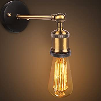 retro vintage wall lights fitting industrial style copper head wall sconce antique brass wall