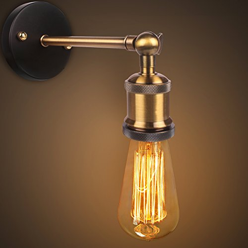 Luz a la pared de la vendimia retro, Cabeza de Cobre El cobre Cabeza l