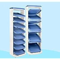 Preisvergleich für BLOIBFS Schuhregal-Speicher-Schuh-Organisator Mit der Regenschirm-Behälter-Raumeinsparung-Einfachen Versammlung,Blue