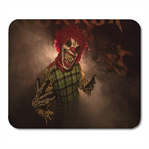 HOTNING Gaming Mauspads, Gaming Mouse Pad Red Halloween Scary Clown The Suit Costume Horror 11.8