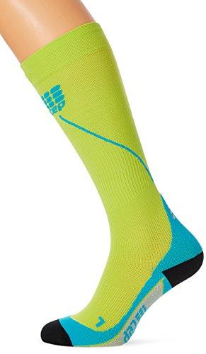 Preisvergleich Produktbild CEP - RUN SOCKS 2.0,  long running socks for men,  green / light blue,  size V,  compression sport socks
