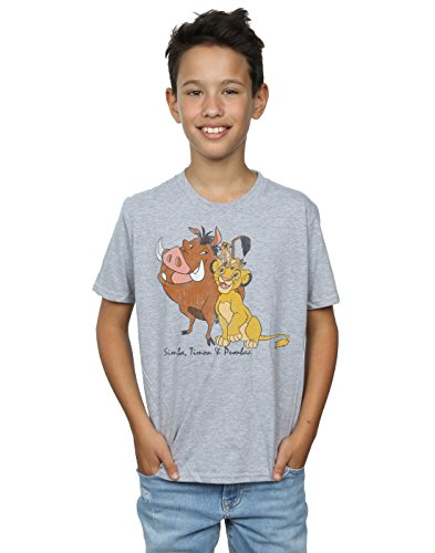 Disney Boys The Lion King Classic Simba, Timon and Pumbaa T-Shirt - Ages 5 to 13 years