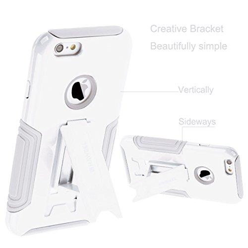 iPhone 6 s RS, HAWEEL ® iPhone 6/iPhone 6S(4.7) RS mit Ständer - Dual Layer TPU Combo Kunststoffkoffer mit Ständer für iPhone 6, Baby Blue White