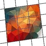 creatisto Fliesenfolie selbstklebend 10x10 cm 3x3 Design Polygon (Grafik & Illustration) Klebefolie Küche Bad