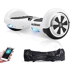 M MEGAWHEELS Gyropode 6.5 Pouces - Hoverboard Tout Tterrain Certifié UL 2272 Auto-équilibrage Balance Board avec Bluetooth et Pneu LED