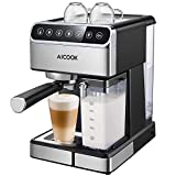 Aicook Machine à Café Automatique,15 Bar Cafetiere Expresso avec Écran Tactile...