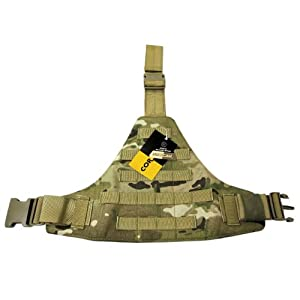 Flyye triangulaire jambe panneau MOLLE Multicam