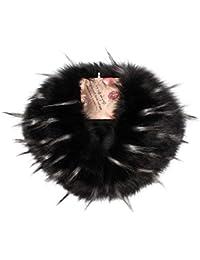 JAGENIE - Pañuelo de Invierno para Mujer, de Piel sintética, Cuello cálido, Bufanda, Bufanda, para Boda, Fiesta de Noche, BH, As Pictures Show