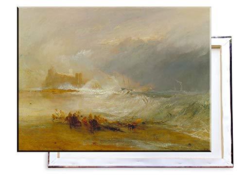 Unified Distribution J. M. W. Turner - Wreckers - Küste von Northumberland - Klassisches Gemälde - Replik auf Leinwand 80x60 cm