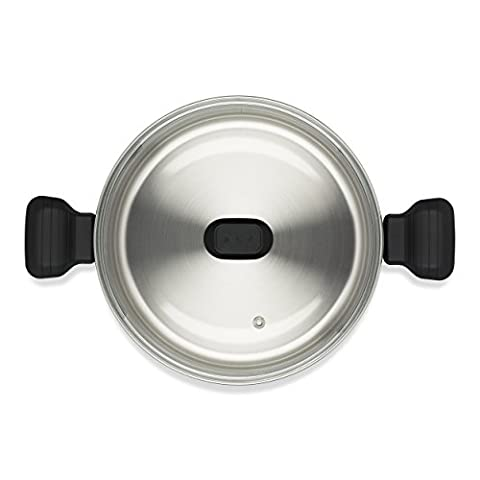 Tefal Comfort Max Stainless Steel Stock Pot and Lid, 24 cm - Silver