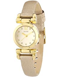 Guess Damen-Armbanduhr XS Ladies Jewelry Analog Quarz Leder W0125L4