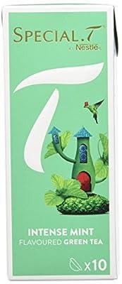 SPECIAL.T by Nestlé Thé Vert Intense Mint Boîte 10 Capsules 25 g - Lot de 6