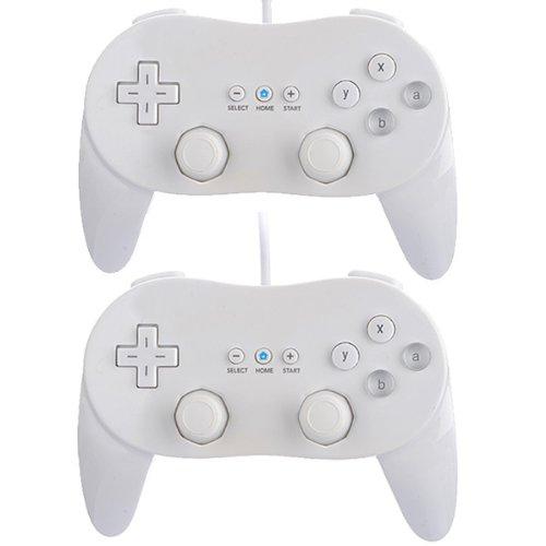 2x Classic Controller Pro GamePad für Nintendo Wii Weiß (Nintendo Wii Classic Controller)