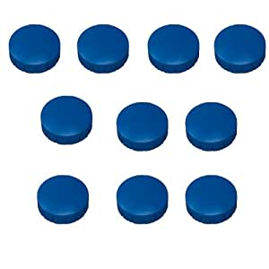 10x magnete blau 32 mm haftmagnete magnete f r magnettafel boards magnet rund blau amazon. Black Bedroom Furniture Sets. Home Design Ideas