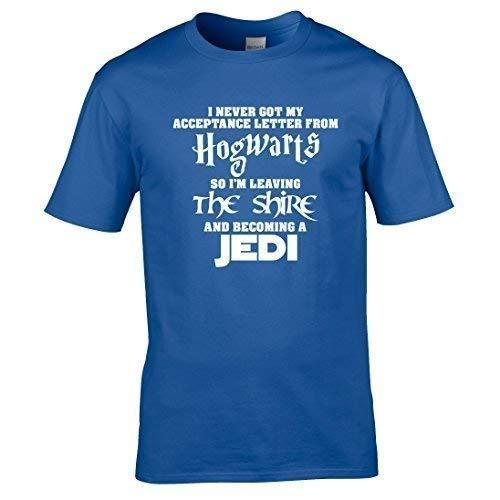 Naughtees Clothing - T-Shirt Hogwarts Herr der Ringe Jedi T-Shirt - Schwarz, L