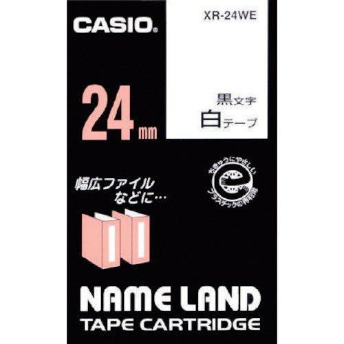 CASIO EZ-Label Printer XR-24WE1 Schriftband selbsthaftend 24 mm x 8,0 m schwarz auf weiß
